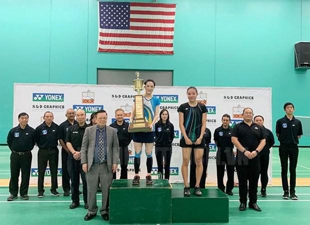 Badmintonista vietnamita gana campeonato abierto de Estados Unidos hinh anh 1