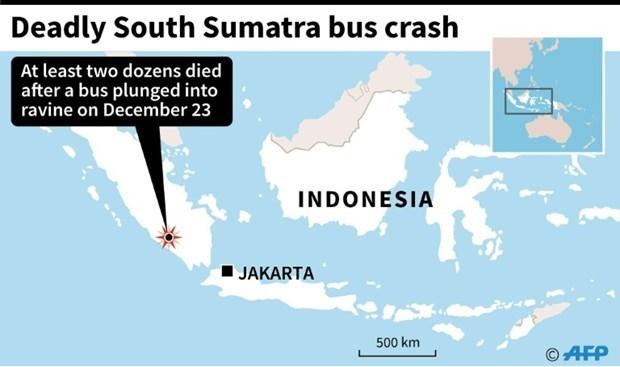 Al menos 24 muertos en accidente de autobus en Indonesia hinh anh 1