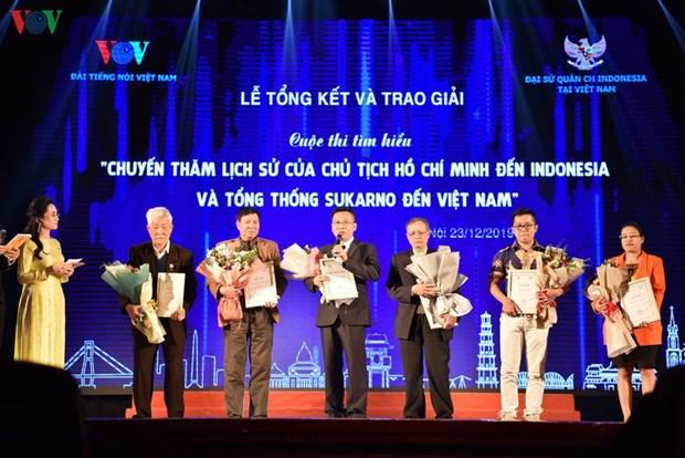 Concluye en Vietnam concurso de escritura sobre visita del Presidente Ho Chi Minh a Indonesia hinh anh 1