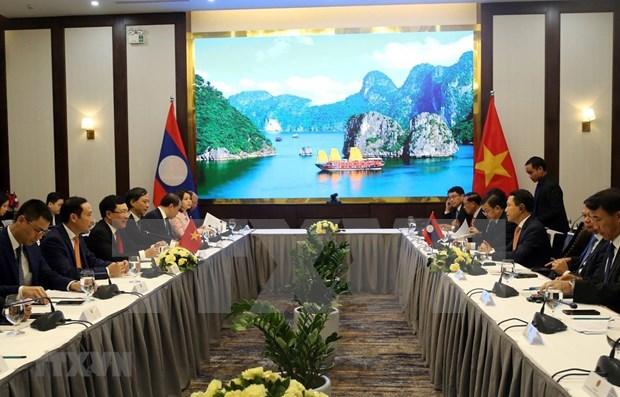 Celebran Vietnam y Laos la sexta Consulta Politica entre las dos Cancillerias hinh anh 1