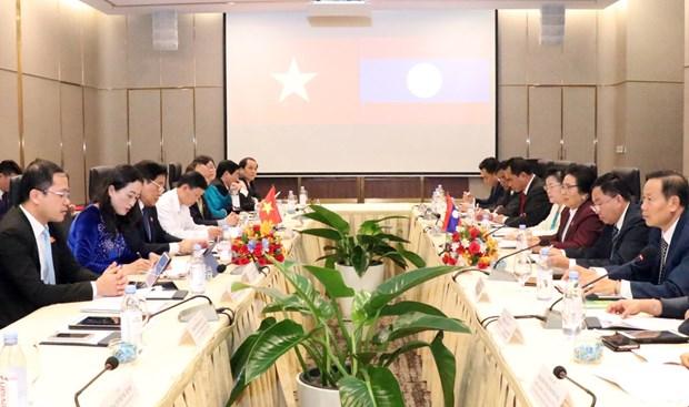 Parlamentos de Vietnam y Laos impulsan cooperacion en trabajo etnico hinh anh 1