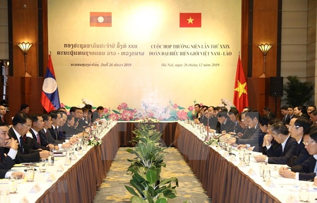 Fortalecen Vietnam y Laos coordinacion en asuntos fronterizos hinh anh 1