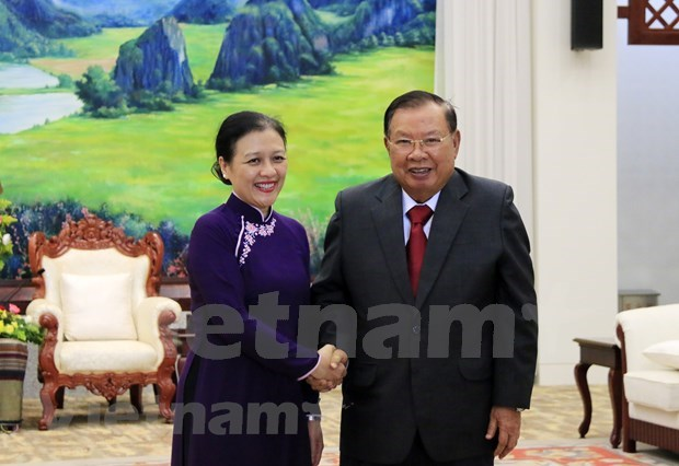 Destacan en Laos grandes contribuciones de veteranos y expertos vietnamitas hinh anh 1