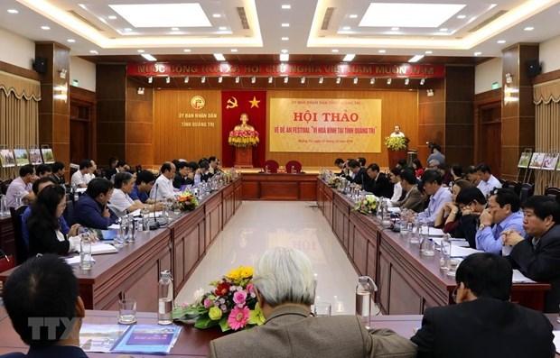 Celebraran Festival por la Paz en provincia vietnamita de Quang Tri hinh anh 1