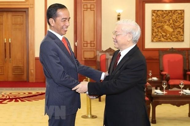 Destacan vigoroso desarrollo de relaciones Vietnam-Indonesia hinh anh 1