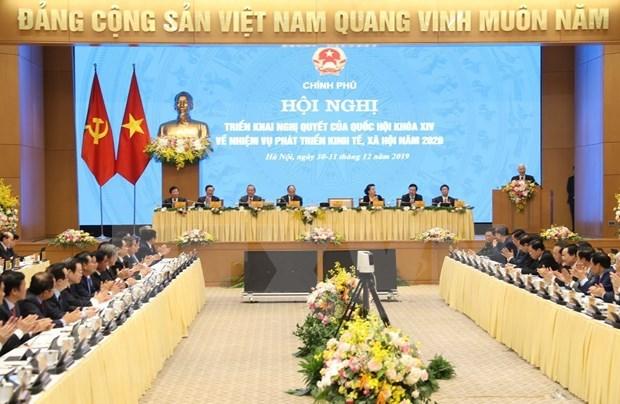Proponen ministros de Vietnam medidas para impulsar desarrollo en 2020 hinh anh 1