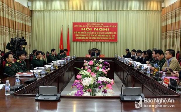 Exhortan a esforzarse por garantizar eficiencia de identificacion de restos de martires vietnamitas hinh anh 1