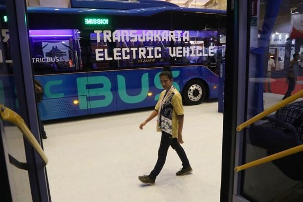 Iniciaran en capital indonesia uso piloto de autobuses electricos en enero hinh anh 1