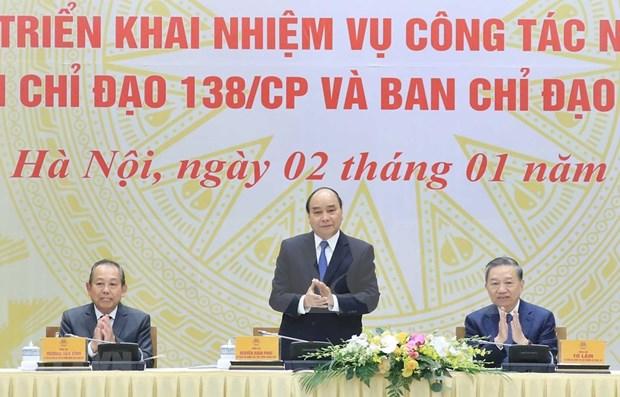 Premier de Vietnam exige mejor desempeno para reforzar en 2020 lucha contra delincuencia hinh anh 1