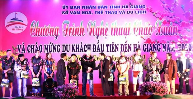Provincia vietnamita de Ha Giang recibe los primeros visitas internacionales en 2020 hinh anh 1
