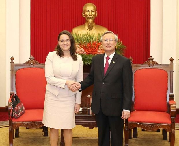 Partidos de Vietnam y Hungria aspiran a una mayor cooperacion hinh anh 1
