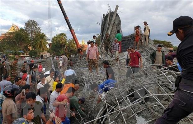 Al menos cuatro muertos tras colapso de edificio en provincia camboyana hinh anh 1