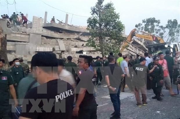 No se reporta victima vietnamita en colapso de edificio en provincia camboyana hinh anh 1