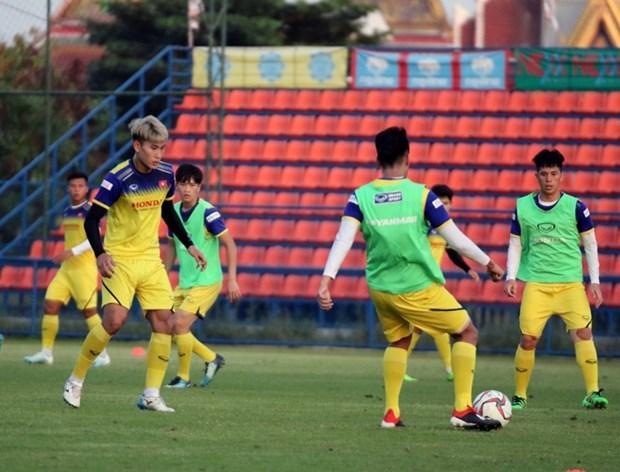 Realiza seleccion sub23 de futbol vietnamita partido de practica antes del Campeonato Asiatico 2020 hinh anh 1