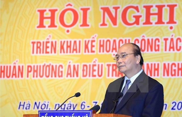 Exhorta primer ministro de Vietnam a mejorar calidad de informacion estadistica hinh anh 1