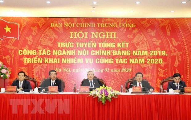 Evaluan trabajo de rama de asuntos internos del Partido Comunista de Vietnam hinh anh 1