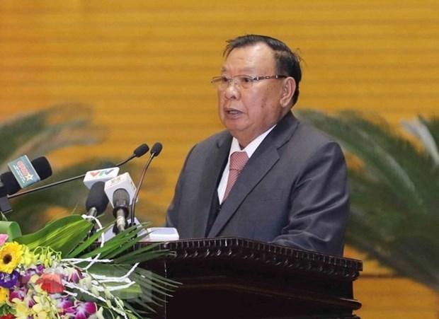 Destacan dirigentes de Laos la cooperacion con Vietnam en sector de fiscalia hinh anh 1