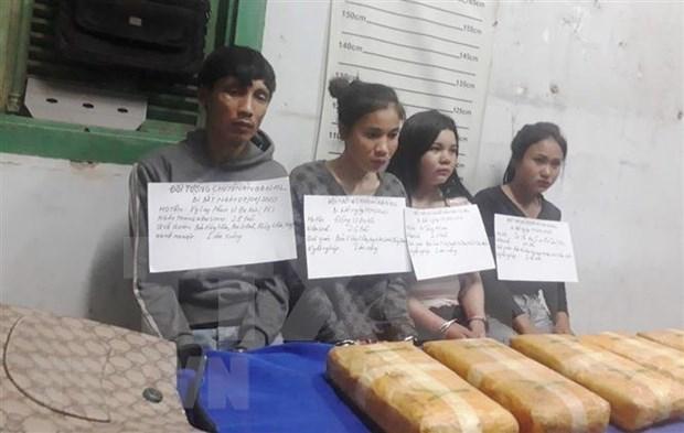 Desmantela policia de Vietnam red narcotraficante a traves de frontera con Laos hinh anh 1