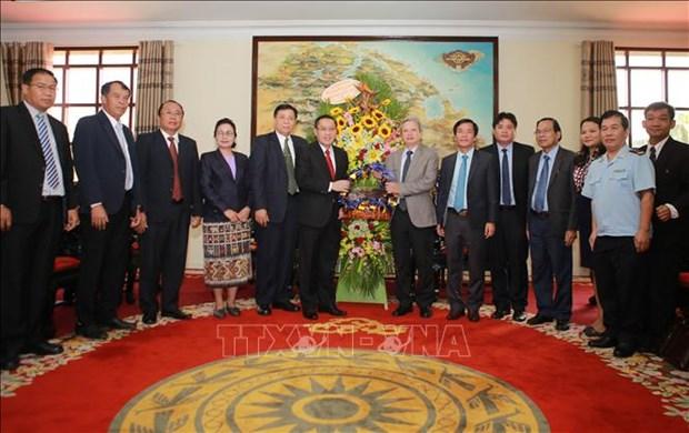 Fortalecen relaciones cooperativas entre provincias de Vietnam y Laos hinh anh 1