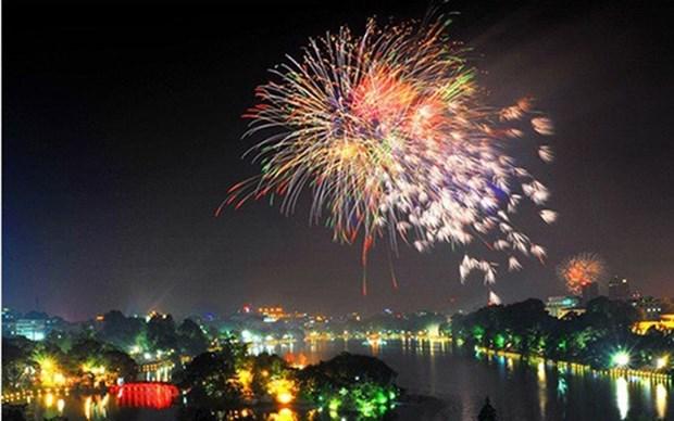 Hanoi lanzara fuegos artificiales para dar bienvenida a la nueva primavera hinh anh 1