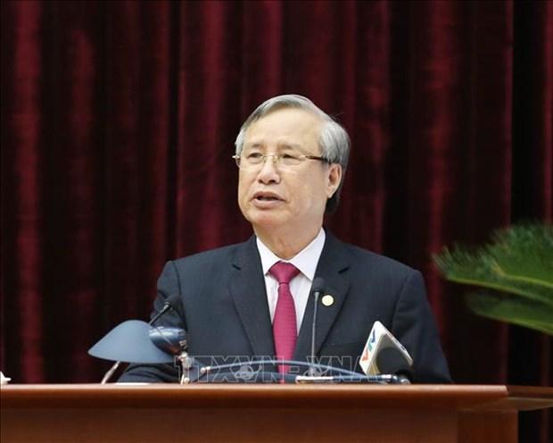 Dirigente partidista vietnamita destaca resultados del trabajo de inspeccion hinh anh 1
