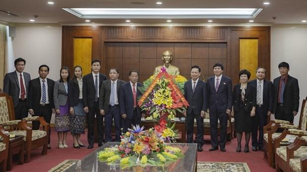 Refuerzan cooperacion entre provincias vietnamita y laosiana hinh anh 1