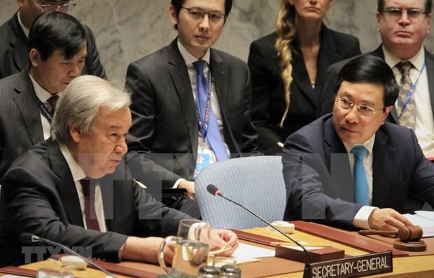 Secretario general de la ONU aprecia prestigio de Vietnam en comunidad internacional hinh anh 1