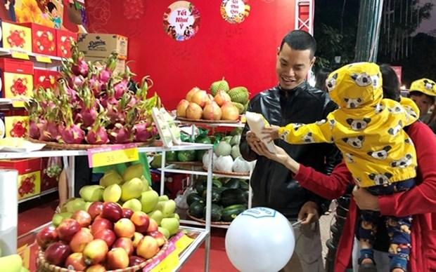 Inauguran en Hanoi feria de mercancias y alimentos en ocasion de Tet hinh anh 1