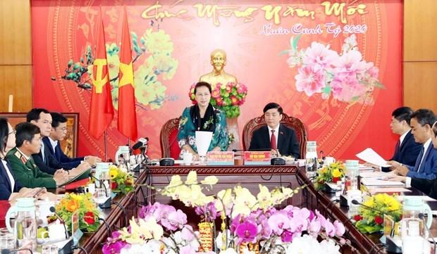 Presidenta del Parlamento vietnamita orienta desarrollo socioeconomico de Dak Lak hinh anh 1