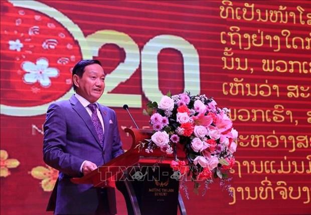 Embajador de Vietnam destaca fructifero desarrollo de nexos con Laos hinh anh 1