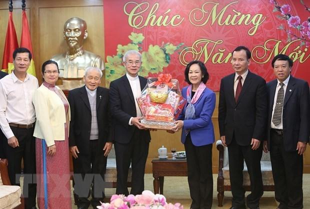 Aprecia dirigente partidista de Vietnam aportes del Comite de Solidaridad Catolica hinh anh 1