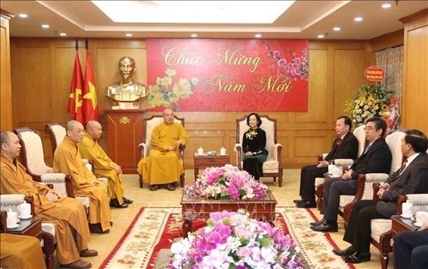 Destaca dirigente vietnamita aportes de la Sangha Budista al progreso nacional hinh anh 1
