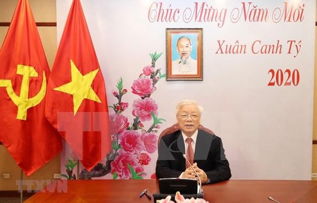 Maximos dirigentes de Vietnam y de China sostienen llamada telefonica hinh anh 1