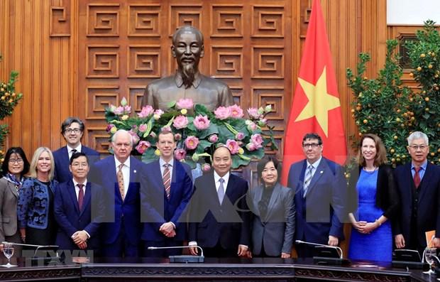 Recibe premier de Vietnam a dirigentes de escuela Harvard Kennedy hinh anh 1