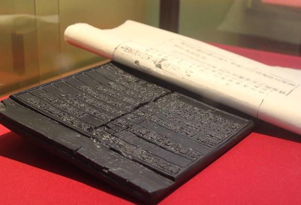 Efectuan en provincia vietnamita exposicion de planchas xilograficas de la dinastia Nguyen hinh anh 1