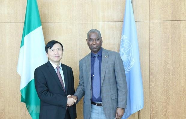 Embajador vietnamita se reune con presidente de la Asamblea General de ONU hinh anh 1