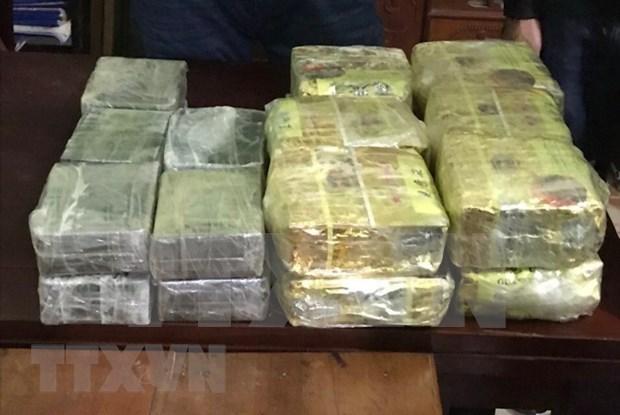 Policia de provincia vietnamita de Nghe An confisca gran cantidad de drogas hinh anh 1