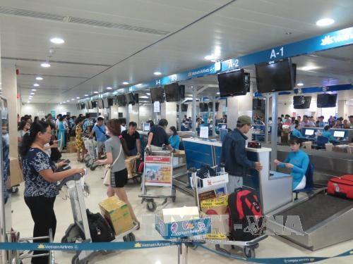 Aeropuerto internacional Tan Son Nhat entra a temporada alta del Tet hinh anh 1