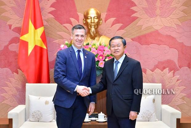 Vicepresidente del Parlamento vietnamita recibe a la delegacion estadounidense hinh anh 1