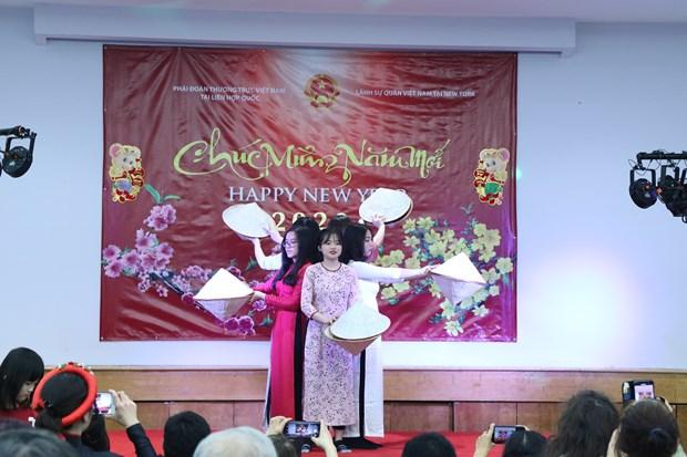 Vietnamitas celebran fiesta del Tet en Nueva York hinh anh 2