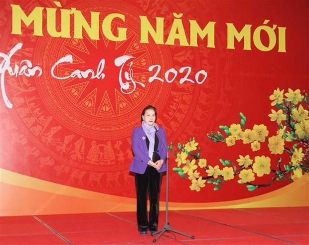 Felicita maxima legisladora de Vietnam al cuerpo parlamentario en ocasion del Tet hinh anh 1