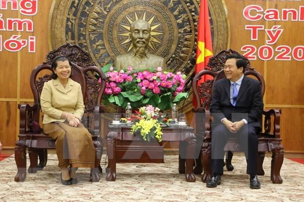 Viceprimera ministra de Camboya felicita a provincia vietnamita por el Tet hinh anh 1
