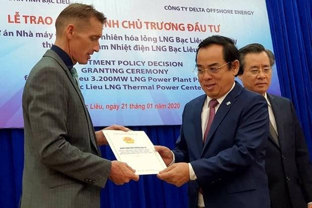 Invierte empresa singapurense cuatro mil millones de dolares en proyecto energetico en Vietnam hinh anh 1