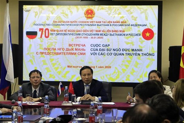 Conmemoran 70 aniversario de relaciones diplomaticas Vietnam-Rusia hinh anh 1
