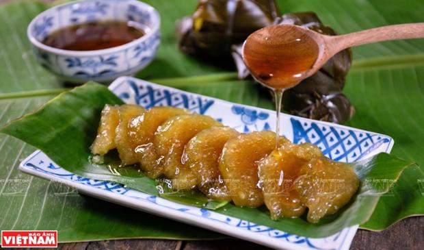 Banh gio, comida ligera favorita de los hanoienses hinh anh 1