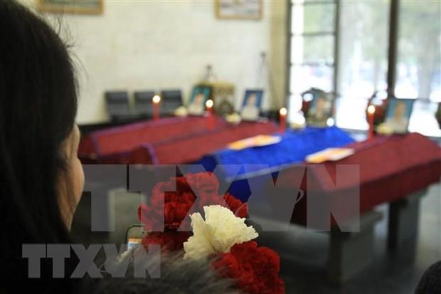 Celebran funeral para vietnamitas fallecidos en incendio de invernadero en Rusia hinh anh 1