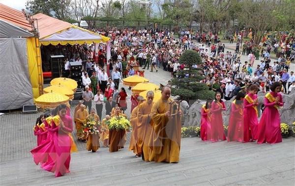 Inaugura vicepremier de Vietnam Festival de Pagoda Bai Dinh hinh anh 1