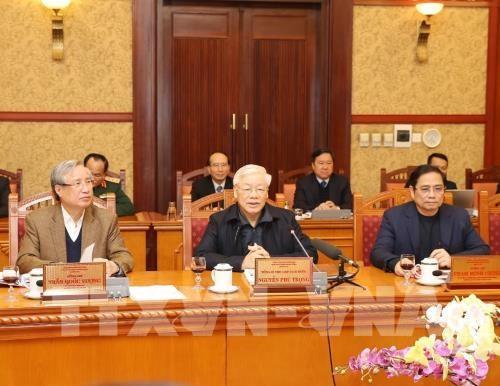 Exhorta maximo dirigente partidista de Vietnam a continuar tareas socioeconomicas despues del Tet hinh anh 1
