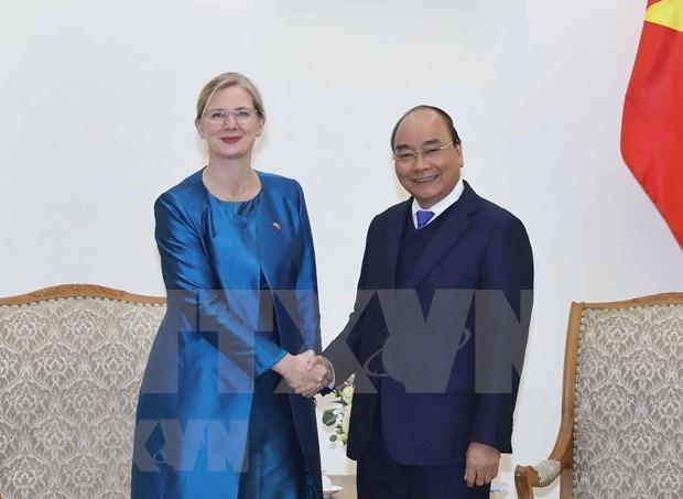 Premier vietnamita recibe a nueva embajadora de Suecia hinh anh 1