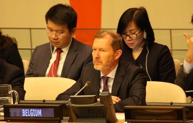 Diplomaticos extranjeros resaltan empeno exitoso de Vietnam como presidente de CSNU hinh anh 1